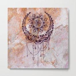 bohemian marble Metal Print