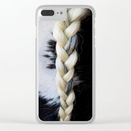 Equine Braid Clear iPhone Case