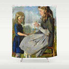"""John Everett Millais """"The Garland Weavers"""" Shower Curtain"""