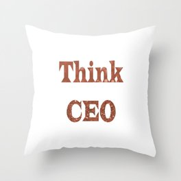 ThinkCEO Throw Pillow