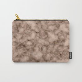 Burnt orange marble Carry-All Pouch