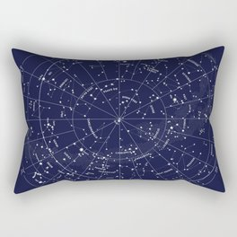 Constellation Map Indigo Rectangular Pillow