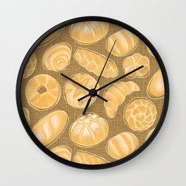 Breads - Bg Jute Wall Clock
