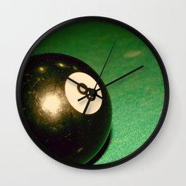 Eight Ball-Green Wall Clock