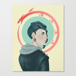 The Girl with the Dragon Tattoo Canvas Print