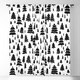 Christmas forest Blackout Curtain