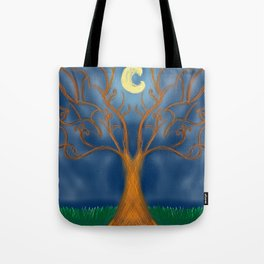 Glowing Tree Tote Bag