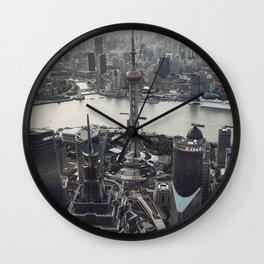 Shanghai Skyscrapers Wall Clock