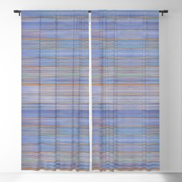 Colorful Abstract Stripped Pattern Blackout Curtain