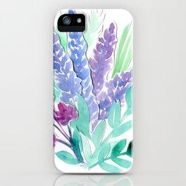 Lavender Floral Watercolor Bouquet iPhone Case