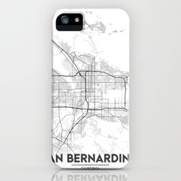 Minimal City Maps - Map Of San Bernardino, California, United States iPhone Case