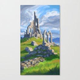 Hilltop Ruin Canvas Print