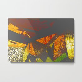 Federation Square 343 Vamped Metal Print