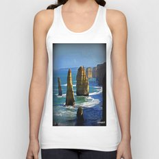 Limestone Rock Stacks - Twelve Apostles Unisex Tank Top