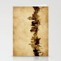 cincinnati Stationery Cards featuring Cincinnati Ohio Skyline by artPause
