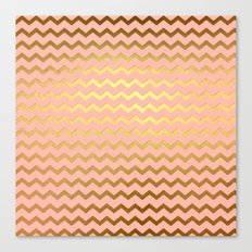 Rose Gold Chevron Canvas Print