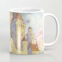 castle Mugs featuring Castle by Kasheva