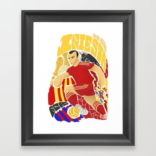 Iniesta Framed Art Print