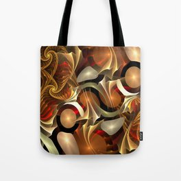 Abstract Red and Gold Tote Bag