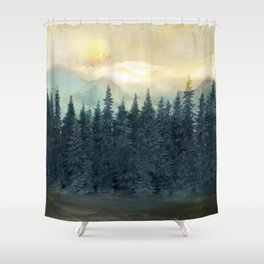 Forest Under the Sunset II Shower Curtain