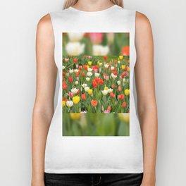 Plenty tulips mix grow in garden Biker Tank