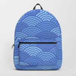 Japanese Neck Gator Blue Japanese Pattern Backpack