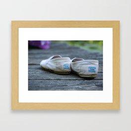 God Save My Shoes Framed Art Print