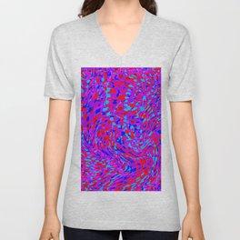 swirling red purple blue Unisex V-Neck