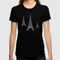 Paris X-LARGE Black Womens Fitted Tee