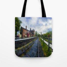 Olde Road Railway Station Tote Bag