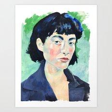 Profile in Acrylic Art Print