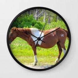 Chincoteague Pony Wall Clock