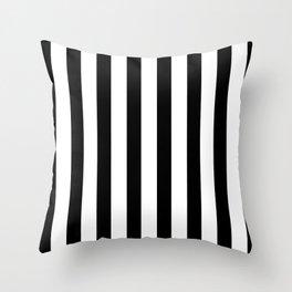 Thick Black and White Stripe Pattern Minimalism Home Decor Throw Pillow