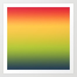Abstract Colorful Tropical Blurred Gradient Art Print