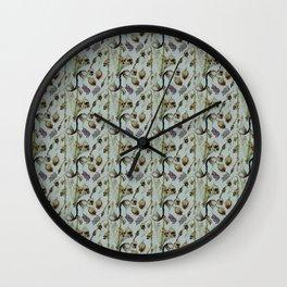 Dead Rose & Snapdragon Pattern Wall Clock