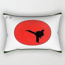 Art Of Karate Print Rectangular Pillow