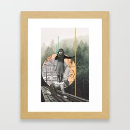 to find what we cannot reach alone  Framed Art Print