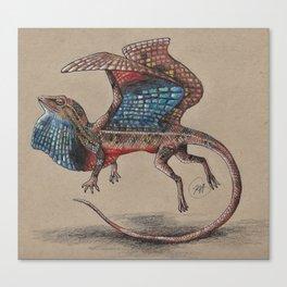 Fan Throated Dragon Canvas Print