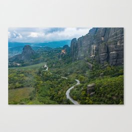Meteora Monastery Landscape Canvas Print
