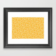 Control Your Game - White on Gold Framed Art Print