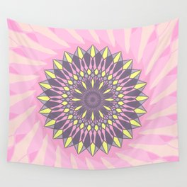 Grey and yellow mandala Wall Tapestry