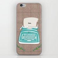 typewriter iPhone & iPod Skins featuring typewriter by WreckThisGirl