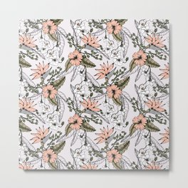 Tropical pattern pastel Metal Print