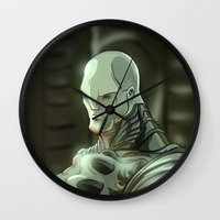 prometheus Wall Clocks featuring Prometheus by Kaan Demircelik