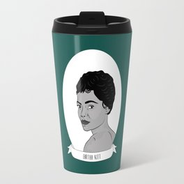 Eartha Kitt Illustrated Portrait Travel Mug