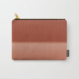 Two Tone Coral Ombre Pattern Carry-All Pouch