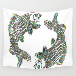 Pisces the Fishes Wall Tapestry