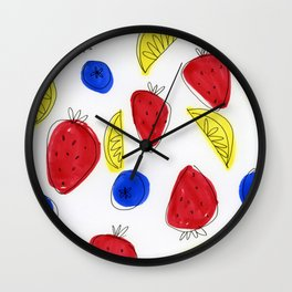 Mixed Fruit Wall Clock