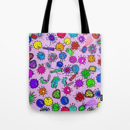 Bacteria Background Tote Bag