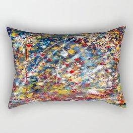 Colored Rain Drops Rectangular Pillow